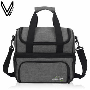 VEEVANV Insulated Lunch Cooler Bags For Food Family Function Waterproof Picnic Large Storage Shoulder Bag Tote Messenger Bags - thefashionique