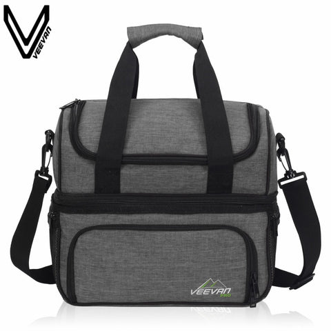 VEEVANV Insulated Lunch Cooler Bags For Food Family Function Waterproof Picnic Large Storage Shoulder Bag Tote Messenger Bags