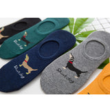 VERIDICAL 5 Pairs Socks men Non-Slip New Fashion Cotton Invisible Socks Men Casual Dunk Low Cut No Show Socks Calcetines hombre - thefashionique