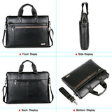VICUNA POLO Top Sell Fashion Simple Dot Famous Brand Business Men Briefcase Bag Leather Laptop Bag Casual Man Bag Shoulder bags - thefashionique