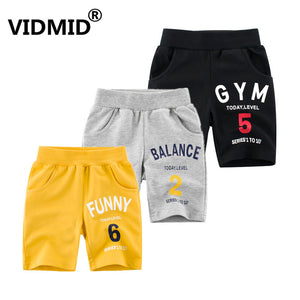 VIDMID Children's cotton shorts Summer Baby Boys Trousers Kids Shorts Baby Boy Girl Jeans Shorts Solid Kids trousers 4037 27