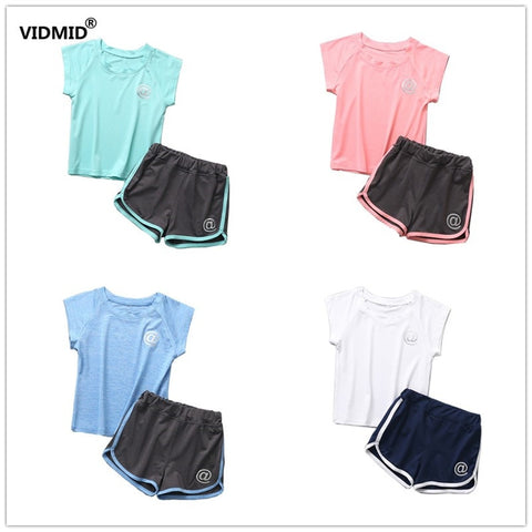 VIDMID Summer Boys girls Clothing Sets Quick-drying Children's Suits Kids boys girls beach Sets suits for 3-10 years 2001 20 - thefashionique