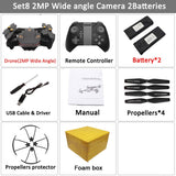 VISUO XS809S Foldable Selfie Drone with Wide Angle 2MP HD Camera WiFi FPV XS809HW Upgraded RC Quadcopter Helicopter Mini Dron - thefashionique