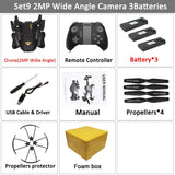 VISUO Xs809HW Xs809W Foldable Drone with Camera HD 2MP Wide Angle WIFI FPV Altitude Hold RC Quadcopter Helicopter VS H47 Dron - thefashionique