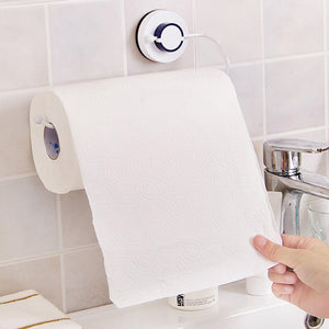 Vacuum suction cups Sanitary Toilet Paper Holder Tissue Box Kitchen Bathroom Storage Rack Roll Paper Tissue Holder Towel Rack - thefashionique