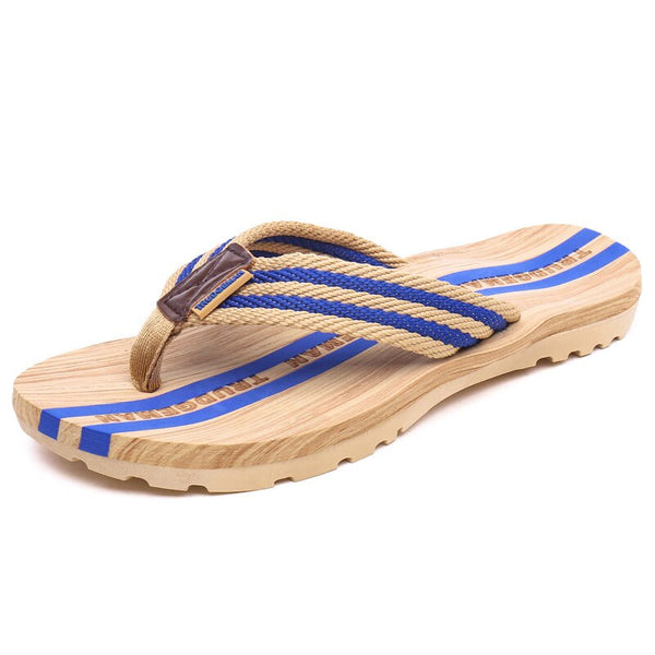 Vanmie Summer Flip Flops Men Beach Flip-flops Summer Men Slippers Shoes Casual Men Flip Flops Rubber Beach Slippers - thefashionique
