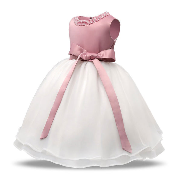 Vestidos Baby Girl Summer 2018 Brand Cute Lace Christening 12 Months Princess bebes Toddler Girl Dresses Fancy Outfits Pink - thefashionique