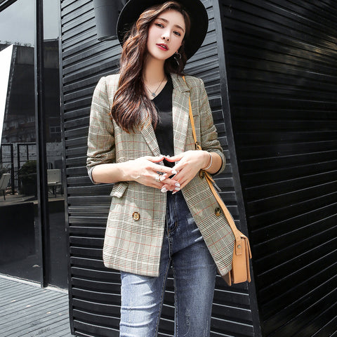 New Fashion 2019 Fall Winter Baroque Designer Blazer Womens Metal Lion Buttons Double Breasted Blazer Jacket Outer Coat Red Cool In Summer And Warm In Winter Suits & Sets