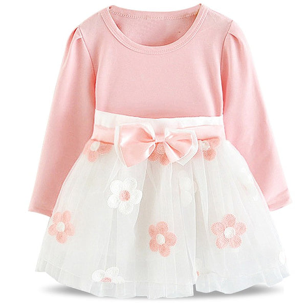 Vintage Toddler  Girls Baby Clothing Flower Dress for Girl Baptism Christening Gown Party Infant Dresses Print Floral Vestido - thefashionique