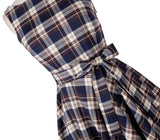 Vintage retro 50s 60s dress V blackless autumn and winter plaid bow tutu big swing retro rockabilly party prom long audrey
