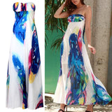 Vogue sexy Women NEW Vintage Sleeveless Floral Long Maxi Dresses Party Dress random color - thefashionique