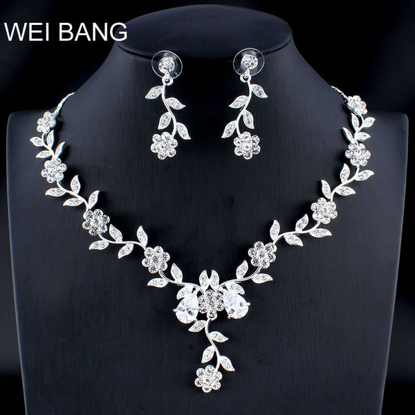 Weibang Married Silver Jewelry Set Girlfriend Necklace Long