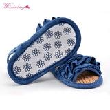 WEIXINBUY Princess Girl Summer Sandals Infant Baby Layer Decor Soft Sole  Shoes - thefashionique