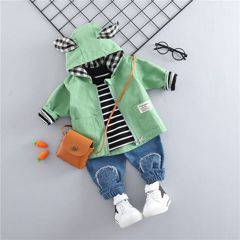WENWENDEXINGFU  Spring Baby Girls Boys Clothing Sets Toddler Infant Clothes Suits Casual Coats T Shirt Pants Children Costume - thefashionique