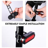WEST BIKING 180 Lumens Bicycle Tail Light USB Rechargeable LED Chip COB Light Bike Accessories 6 Mode Cycling Safety Taill Light - thefashionique