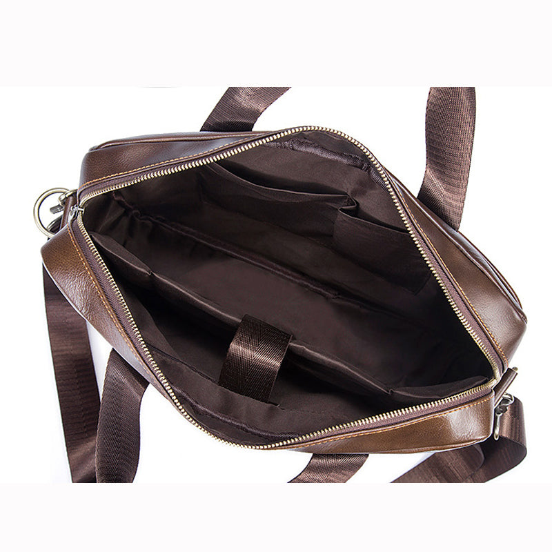 WETSTAL Business Briefcases Man Leather Laptop Bag Male Messenger Bag Men Shoulder Bags Genuine Leather Document Computer Bags - thefashionique