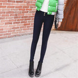 WKOUD Winter Women Candy Colors Fleece Pencil Pants High Waist Warm Thicken Trousers Female Casual Leggings Streetpants P8568 - thefashionique