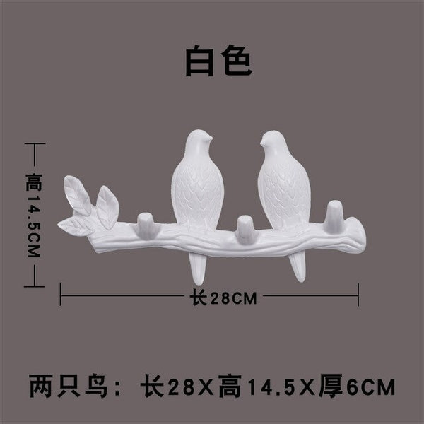 Wall Decor Home Accessories Living Room Hanger Resin Bird hanger key kitchen Coat Clothes Towel Hooks Hat Handbag Holder