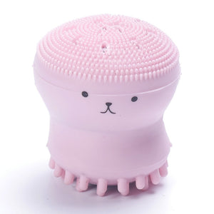 Wash Face Exfoliating Cute Pink Octopus Brush Cleaning Pad Facial SPA Skin Tool Deep Pore Cleaning Exfoliator Face Washing Brush - thefashionique