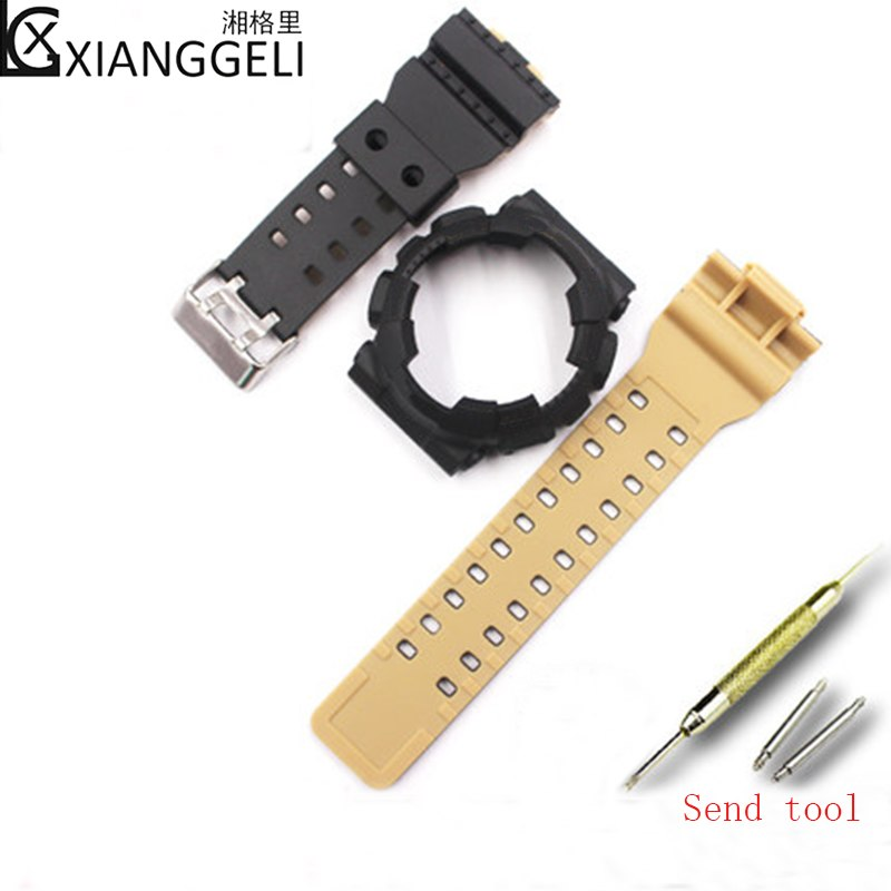 3ba2d3e082b1 Watch Accessories Double Color Watch band For Casio G-SHOCK GD-100GD-110