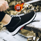 Waterproof Winter Men Boots with Fur Warm Snow Women Boots Men Work Casual Shoes Sneakers High Top Rubber Ankle Boots plus size