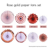 Wedding Decoration Party Decoration Baby Shower Dec  Bachelorette Party Decorations Rose Gold Hanging Paper Fans Decorations - thefashionique