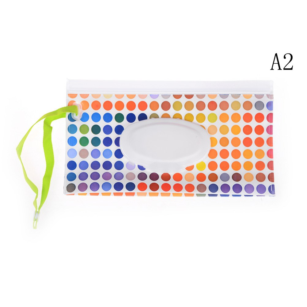 Wet Wipes Bag Clamshell Cosmetic Pouch Clutch and Clean Easy-carry Snap-strap Wipes Container Wipes Eco-friendly Tissue Boxes - thefashionique