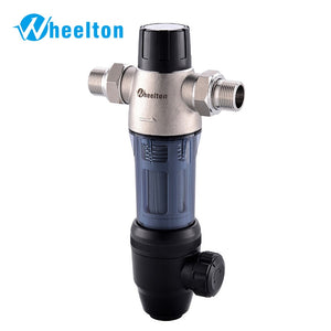 Wheelton Stainless Steel  Pre filter Water Filter Upgraded Backwash House Water Purified Remove Rust Sediment Free Ship