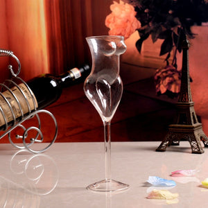 Whisky Glass Cocktail Bottles Human Body Shape CUP Red Wine Glass Creative Glasses Drink Glass Cups De Glass Goblet Tumbler Cup - thefashionique
