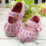 White Bowknot Baby Girl Lace Shoes Toddler Prewalker Anti-Slip Shoe Simple Baby Shoes - thefashionique