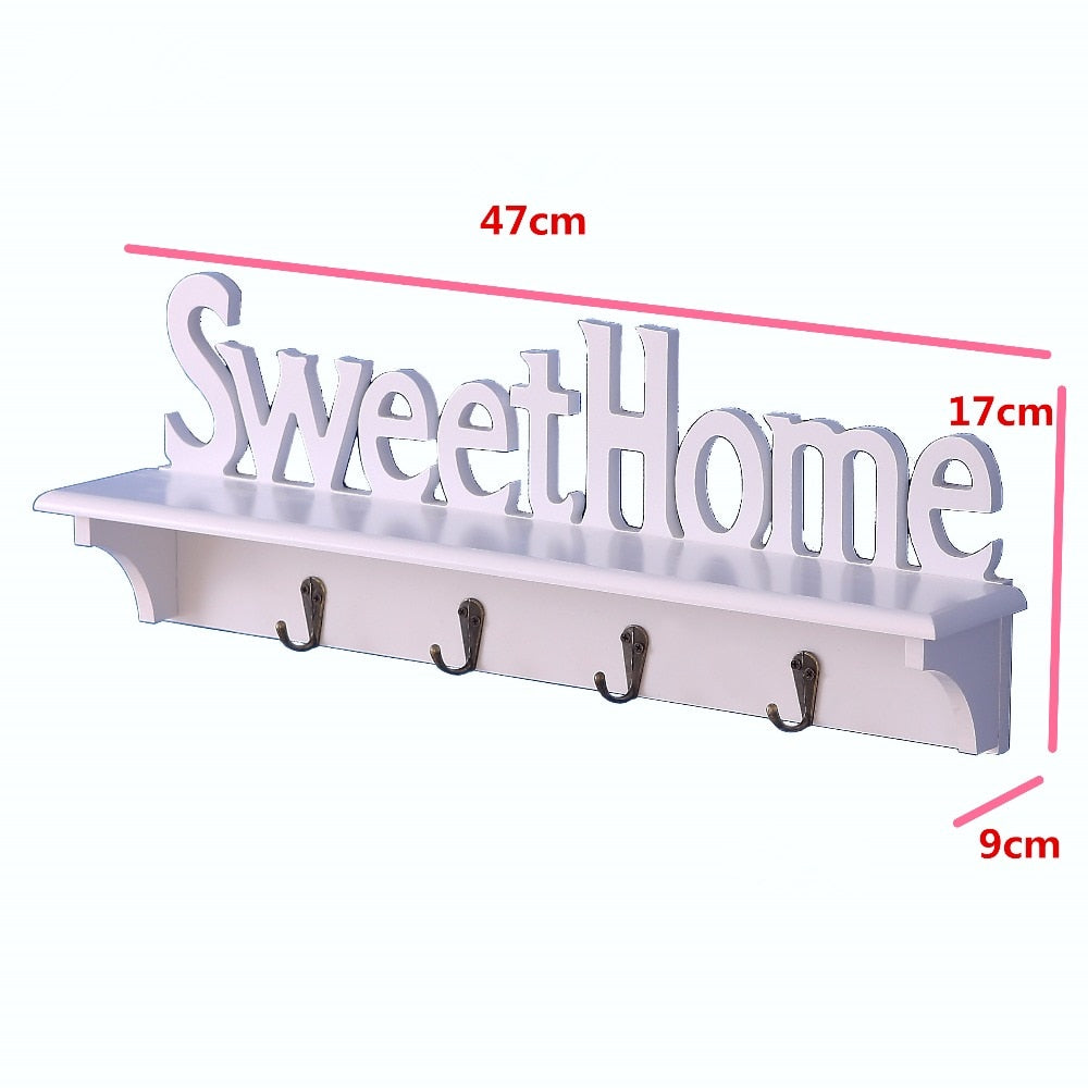 White Diaphragn Cutout plastic Coat Rack Shelf Wall Mural Housekeeper Bathrobe Towel Hanger Hook Key Hanger Clothes Hangers Food - thefashionique