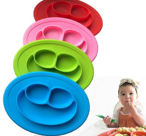 Wholesale 120pcs/lot silicone baby Dining plate health Lovely smile face lunch tableware Children silicone bowl
