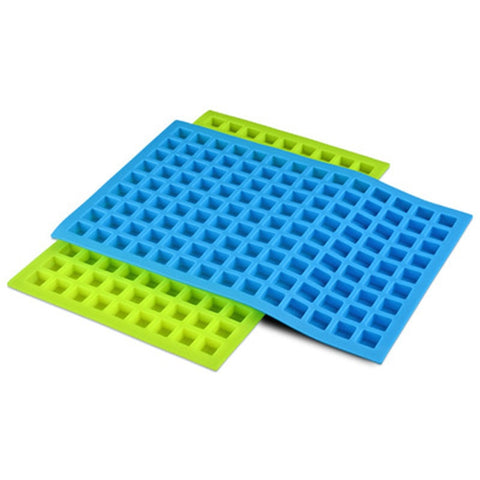 Wholesale 150pcs/lot 126 holes mini square shape silicone ice cube mold Candy Chocolate Pudding Jelly Ice Cake Tray Cubes