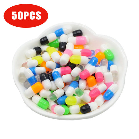 Wholesale 50PCS Styrofoam Pill Decorative Slime Colorful  DIY Craft For Crunchy Slime homemade  balls diy accessories