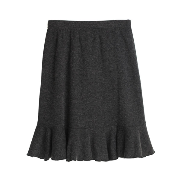 Wholesale Women Real Silk Skirts Empire Knee-length Sexy A-line Skirts Women Anti-peeping Thick Warm Skirts 8104 - thefashionique