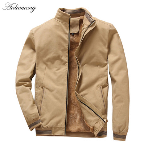 Winter Fleece Jacket Men 2018 Casual Bomber Jacket Men Windbreaker Fashion Cotton Warm Men Jacket Male Coat For Men Outwear Coat