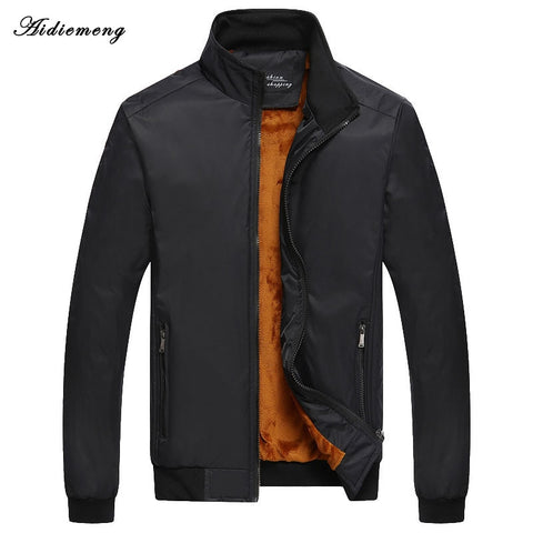 Winter Jacket Men Casual 2018 New Brand Men's Jackets Coats Male Slim Fleece Windbreaker Outerwear Coat Bomber Jackets For Men
