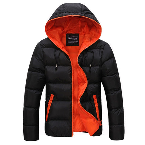 Winter Men Jacket 2018 New Brand High Quality Candy Color Warmth Mens Jackets and Coats Thick Parka Men Outwear XXXL