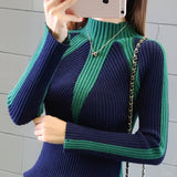 Winter Sweaters Women 2017 Fashion Jumpers Korean hit color Pullovers Knitting Pullovers Thick Christmas Sweater pull femme - thefashionique