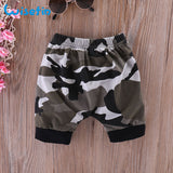 Wisefin Newborn Baby Boys Clothes Set Short Sleeve Infants And Toddler Clothing Black Tops + Camo Pant 2Pcs Newborn Baby Outfits - thefashionique