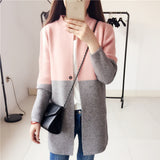 Woman long jaket coat sweater Knitted slim suit cardigans plus size elegant noble winter fall full sleeve large clothing - thefashionique