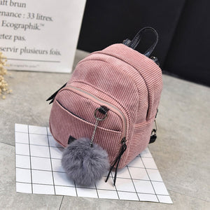Women 2018 Cute Backpack For Teenagers Children Corduroy Mini Back Pack Kawaii Girls Kids Small Backpacks Feminine Packbags - thefashionique