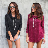 Women Autumn Casual Long Sleeve Hoodie Jumper Pullover Sweatshirt Tops - thefashionique