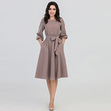 Women Autumn O-Neck Dress 2018 Summer Women's Elegant Vintage Bohemian Beach Dresses Casual Loose Dresses Vestidos - thefashionique