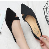 Women Flats Woman Single Shoes Ballet Flats Shoes Pointed Toe Flat Shoes Slip-On Shallow Cross-Tie Comfort Pregnant Woman Shoes - thefashionique