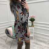 Women Floral Printed Dresses Kawaii Girl Sweet Bow O-neck Mini Sundress Fashion Summer Party Dress Beach Casual Plus Size GV046 - thefashionique