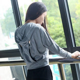 Women Hoodie Sweatshirt Backless Hollow Out Sweatshirt Women Workout Cropped Hoodies for Women Sportswear Fitness Sudadera mujer - thefashionique
