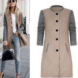 Women Long Sleeve Autumn Coat  Warm Sweaters Knitted Cardigan Fashion Loose Jacket Female Outwear Jacket Coat With Button#1 - thefashionique