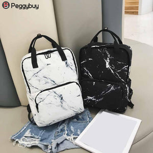 Women Nylon Backpack for Teenagers Girls Ladies Bags Marbling Backpack Female Computer High Quality Rucksack Schoolbag Feminina - thefashionique