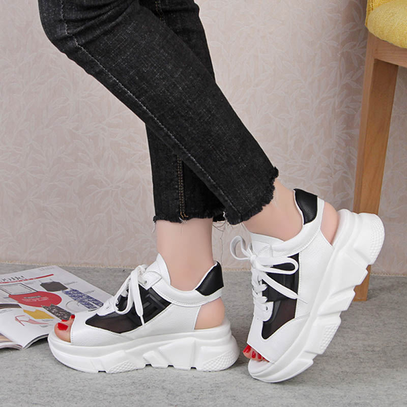 Women Sandals 2019 Summer Shoes Platform Sandalias Mujer Ladies Flat Woman Summer Shoes Chunky Zapatos Chaussures Sandales Femme - thefashionique